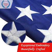5'x8' ft USA American Flag US | EMBROIDERED Stars| Sewn Stripes| Brass Grommets