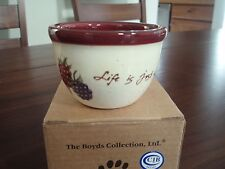 Boyds Bears Life is just a bowl pottery