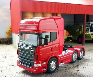 Welly ~ 1:32 Scania R730 V8 Topline 6x4 red Cab Super Haulier Models 32670L-W