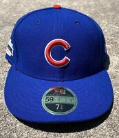 Chicago Cubs MLB New Era 59FIFTY 2016 World Series Champs Fitted Hat Blue 7 1/4