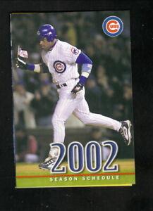 Chicago Cubs--Sammy Sosa--2002 Pocket Schedule--Fifth Third Bank