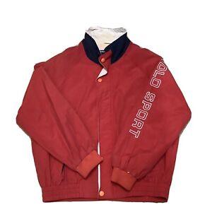 Ralph Lauren Polo Sport 80's 90's Spell Out Jacket Sports Coat Vintage L-XL