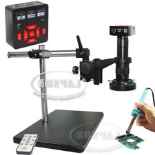2019 28MP HDMI 60FPS 1080P Industry Camera Microscope set + 0.5X Barlow Aux Lens