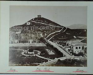 5 ANTIQUE PHOTO CHINESE CHINA CANTON HONGKONG MACAU ALBUMEN PEAK VIEW 1890 #4