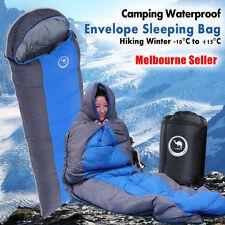Outdoor Camping Envelope Sleeping Bag Thermal Hiking Winter Single -10°C OZ