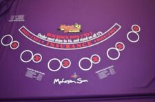 Purple Mohegan Sun Black Jack Poker Felt Fabric