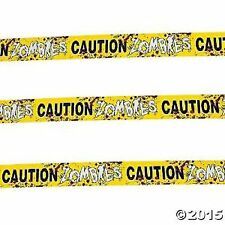 20 FEET of Halloween Zombies Caution Tape Banner Walking Dead Theme Party Decor