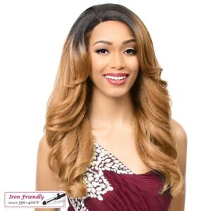MONTESSA - IT'S A WIG! SYNTHETIC SWISS SILK LACE FRONT WIG LONG FLIP CURL