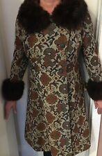 Vintage 60's 70's Tapestry Coat  10/12 M/L GCU