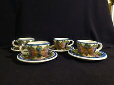 Vintage tea cup and saucer set handemade in Skyros Greece