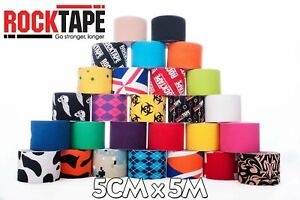 Rocktape Kinesiology Elastic Fitness Sports Tape Physio Running Football Rugby