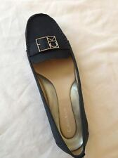 "Calvin Klein Women's Leather ""Kami"" Indigo Blue Nubuck/Car Patent Loafer 9 M New"