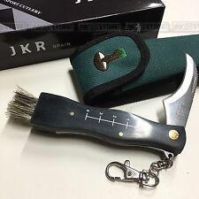 KNIFE COLTELLO JKR PER FUNGHI CON SPAZZOLA E REGOLO DIMENSIONI FOLDING 6cm
