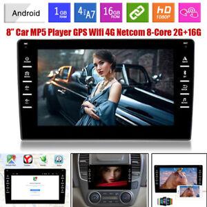 "8"" 2 Din Android 9.0 Carplay Car Stereo Radio GPS Navigation 4 Core 2GB+16GB Kit"
