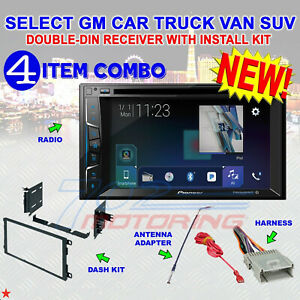 CHEVY-GMC TOUCHSCREEN CD/DVD BLUETOOTH RADIO STEREO DOUBLE DIN DASH KIT CAR NEW!