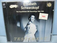 ELISABETH SCHWARZKOPF - UNPUBLISHED EMI RECORDINGS 1946-1952, 2CD Testament NEW