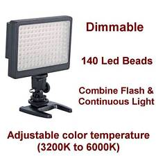 Dimmable LED Video Light for Samsung Galaxy S III, IV, II, S3, s4, Note, phone