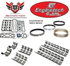 ENGINETECH CHEVY SBC 350 5.7 RE RING REBUILD KIT WITH MAIN BEARINGS 1996-2002