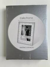 NIB Swing Design Celia Frame, 5x7-Inch, Silver Plated - Wedding Rhinestones