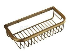 30cm Antique Brass Wall Mounted Shower Caddy Bathroom Storage Basket