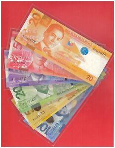 2010 PHILIPPINES 20 50 100 200 500 1000 Peso NGC  Aquino III Star note 6 pcs UNC