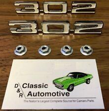 302 Hood Emblems 69 Camaro Z28 pair badges logos for cowl hood fits 67 68 w/cowl