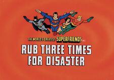 SUPER FRIENDS SUPERMAN WONDER WOMAN BATMAN ORIGINAL PRODUCTION ANIMATION CEL BG