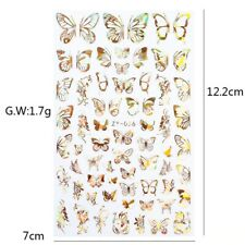 1pc Holographic 3D Butterfly Nail Art Stickers
