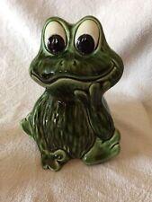 More details for vintage original sylvac green frog money box number 5097
