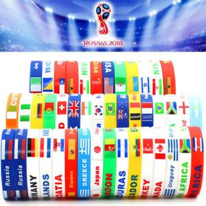 Wristband Armband Bracelet 4 your 2018 FIFA World Cup Teams (Soccer/Football)