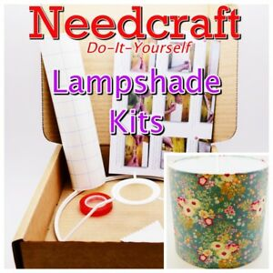 Lampshade Kits 20/25/30/40cm Make Your Own, DIY. Made in the UK by Needcraft