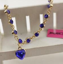 Golden chain Fashion Jewelry Betsey Johnson Rhinestone crystal heart Bracelets