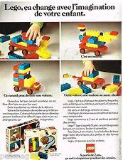 Publicité Advertising 1973 Jeu Jouets Lego