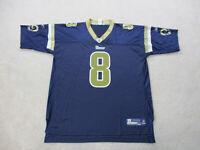 Reebok Sam Bradford St Louis Rams Football Jersey Adult 2XL XXL Blue Gold Mens