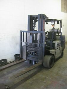 "KOMATSU 9,000 LB FORKLIFT - 60"" FORKS, 3 STAGE MAST WITH SIDE SHIFT"