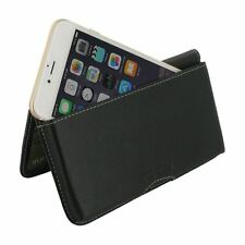 PDair Leather Wallet Case Cover for Apple iPhone 8 Plus - Black