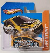 Hot Wheels Citroen C4 Road Rally Dark Yellow 2013 HW Stunt 91/250 Short Card 1/5