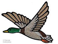 MALLARD DUCK iron-on PATCH embroidered BIRD ANIMAL HUNTING SOUVENIR APPLIQUE new