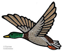 MALLARD DUCK iron-on PATCH embroidered BIRD ANIMAL HUNTING SOUVENIR APPLIQUE new