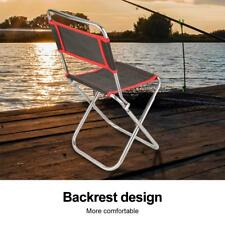 Portable Folding Aluminum Chair Outdoor Fishing Camp Travel Picnic Stool Seat SD