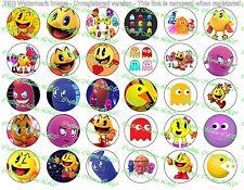 """30 Precut 1"""" Pac Man Bottle cap Images Set 1"""