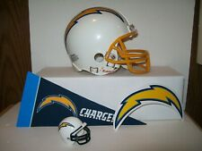 NFL SAN DIEGO CHARGERS WHITE  RIDDELL  FOOTBALL  MINI HELMET LOT