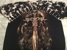 Studded Sword T-Shirt (Survivors Brand) - Black - Size XL