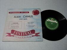 ALBERT CAMUS SERGE REGGIANI MARIA CASARES ALAIN CUNY 33 TOURS 25CMS FRANCE