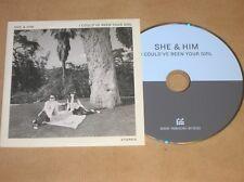 RARE CD PROMO 1 TITRE / SHE & HIM / I COULD'VE BEEN YOUR GIRL / TRES BON ETAT