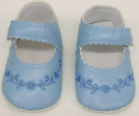 Baby Shoes Blue Girls Boys infant First Size New 0- 12 months pram