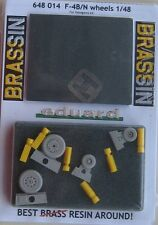Eduard Brassin 1/48 EDB648014 Resin F-4B/N Phantom Wheels for Hasegawa kits