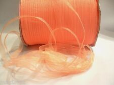 10m x 7mm Organza Ribbon : 29 Orange