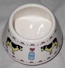 """White 4"""" Ceramic Cows with Milk Jug Vase"""