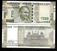 "Rs.500/- Urjit Patel  Star Note ""E"" Inset  Prefix 0LB  2017 - UNC  LATEST"